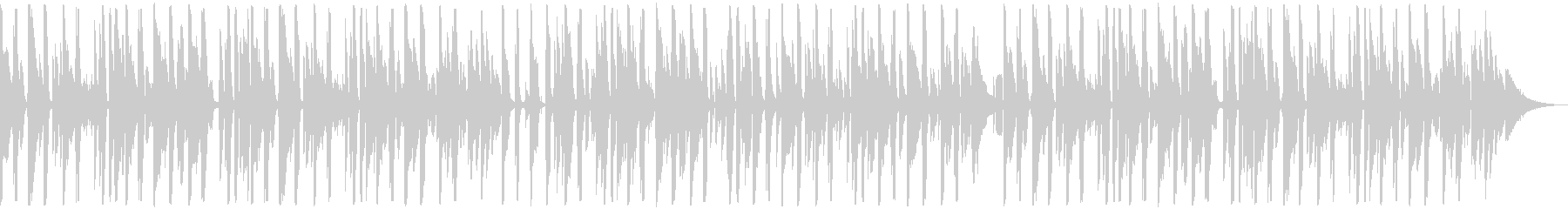 お洒落でかっこいいピアノのジャズファンクの未再生の波形