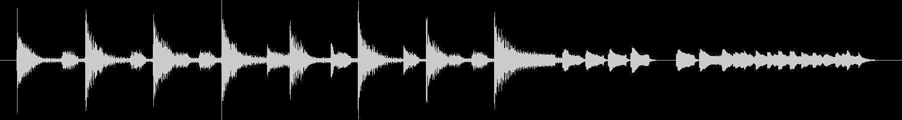 ブンチャブンチャ~テレレテッテレー 4の未再生の波形