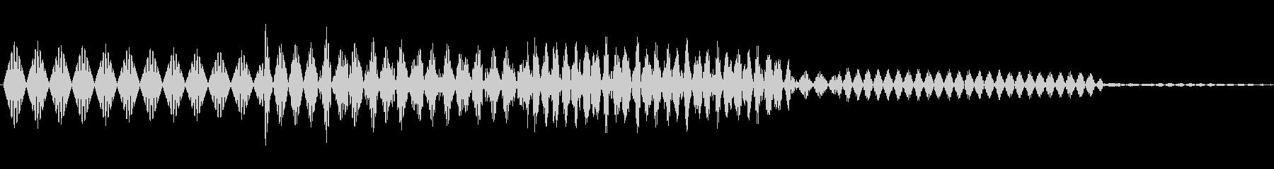 ボタン決定音システム選択タッチ登録C04の未再生の波形
