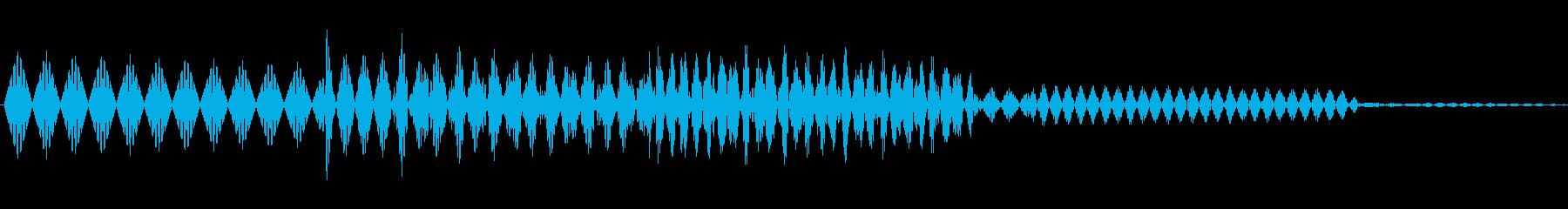ボタン決定音システム選択タッチ登録C04の再生済みの波形