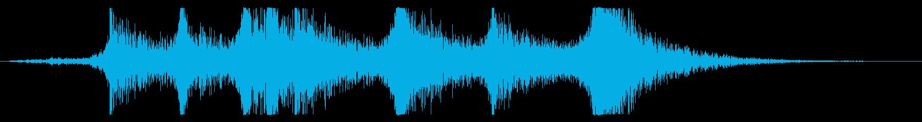 ライザー、メタルヒット、チェーン、...の再生済みの波形