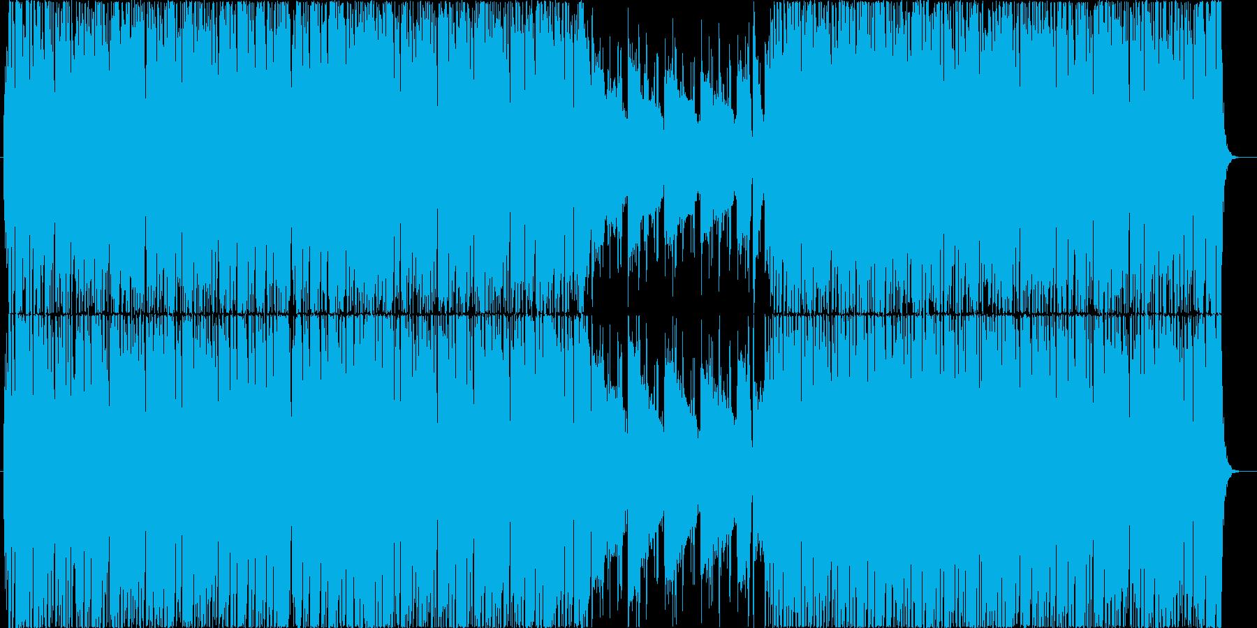 フュージョン風の曲です。の再生済みの波形