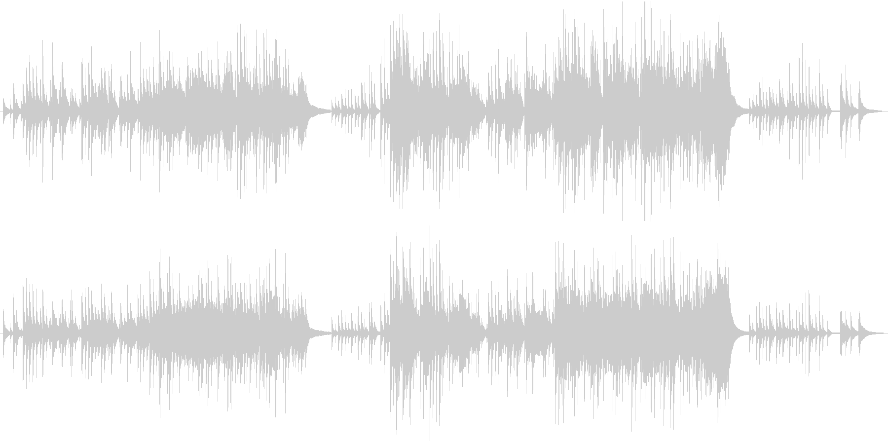 切なくも美しいピアノアレンジの未再生の波形