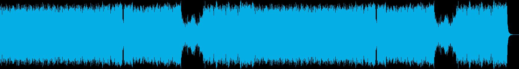 迫る敵軍をイメージしたフルオーケストラの再生済みの波形