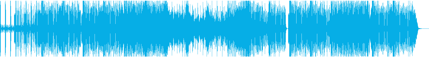 シンセの怠惰な曲の再生済みの波形