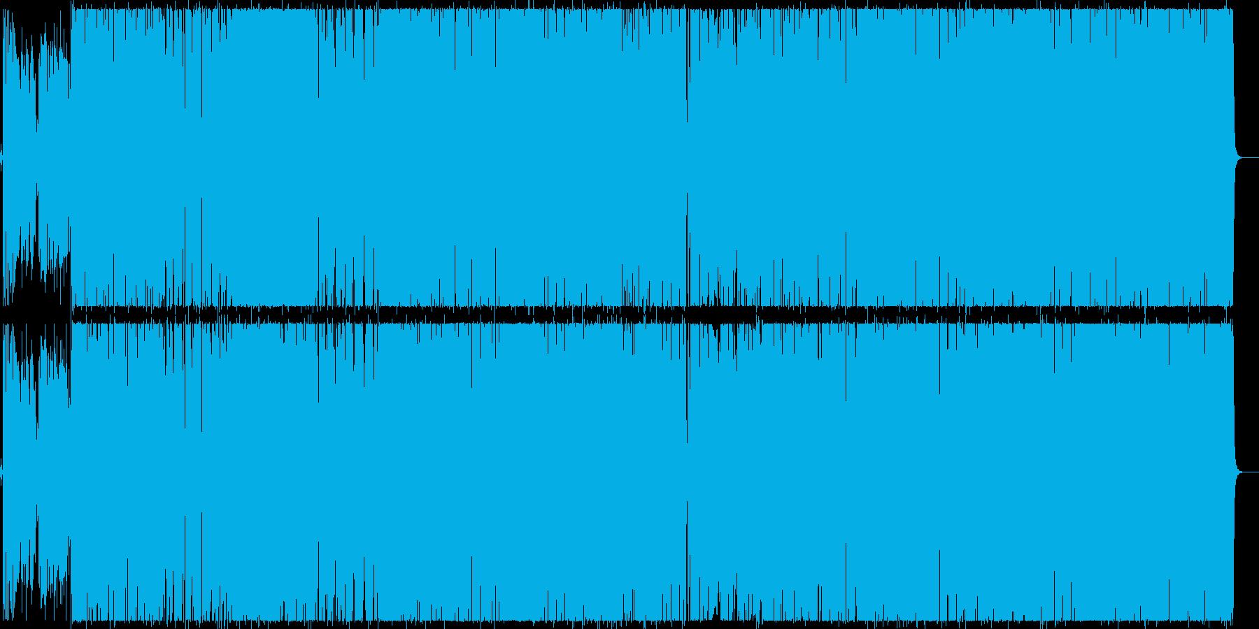 ポップでファンキーなオルタナティブロックの再生済みの波形