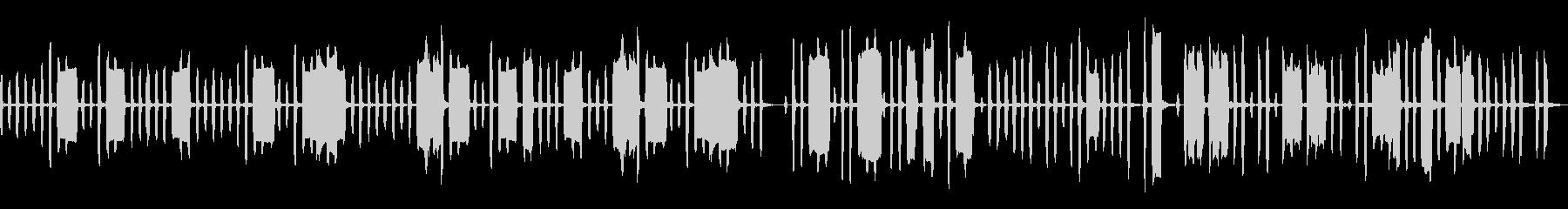 ほのぼのとしたリコーダーカルテットの未再生の波形