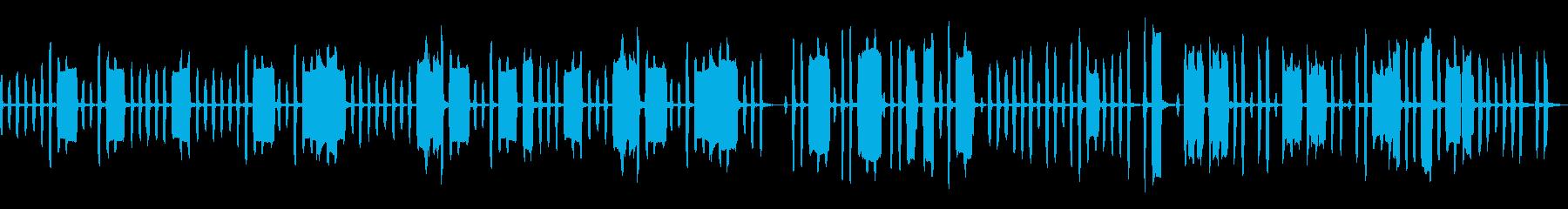 ほのぼのとしたリコーダーカルテットの再生済みの波形