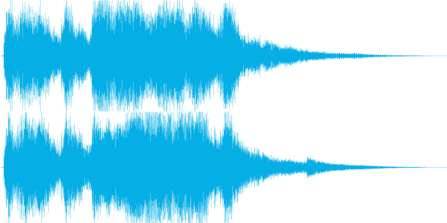 クラシックなイベント達成音ジングル4の再生済みの波形