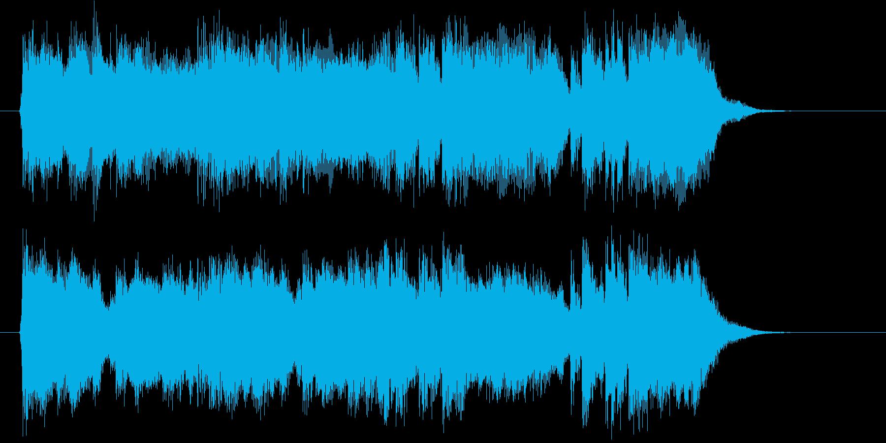 壮大な響きのオーケストラの再生済みの波形