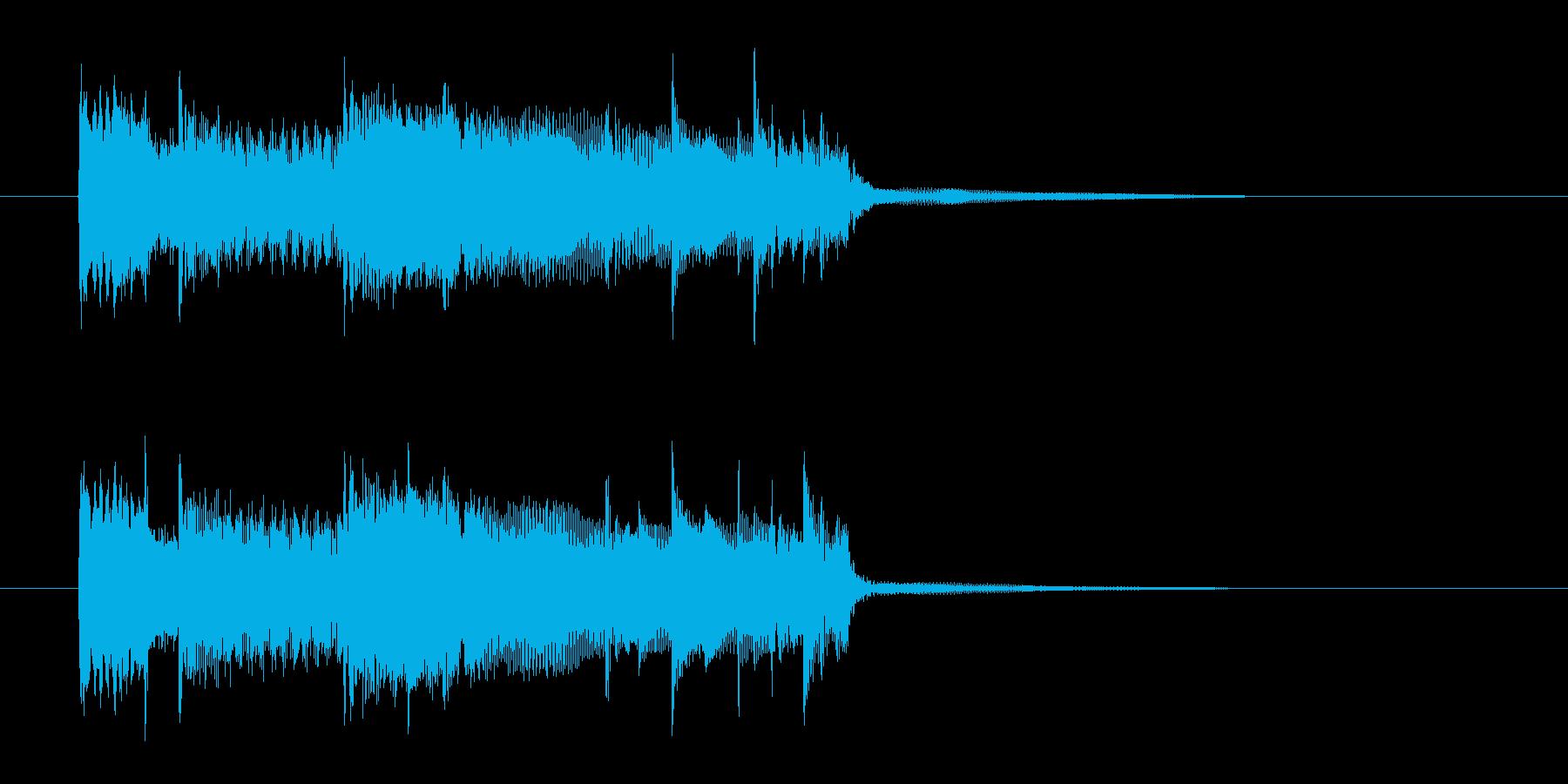 明るい元気のあるキラキラした高音の曲の再生済みの波形