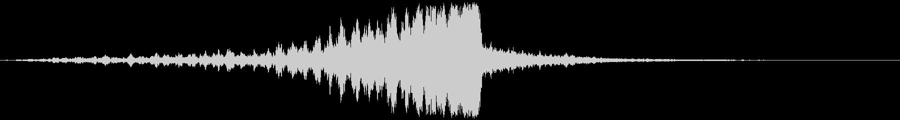 シネマティックな音で場面転換の未再生の波形