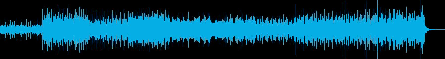 シンセポップBGMの再生済みの波形