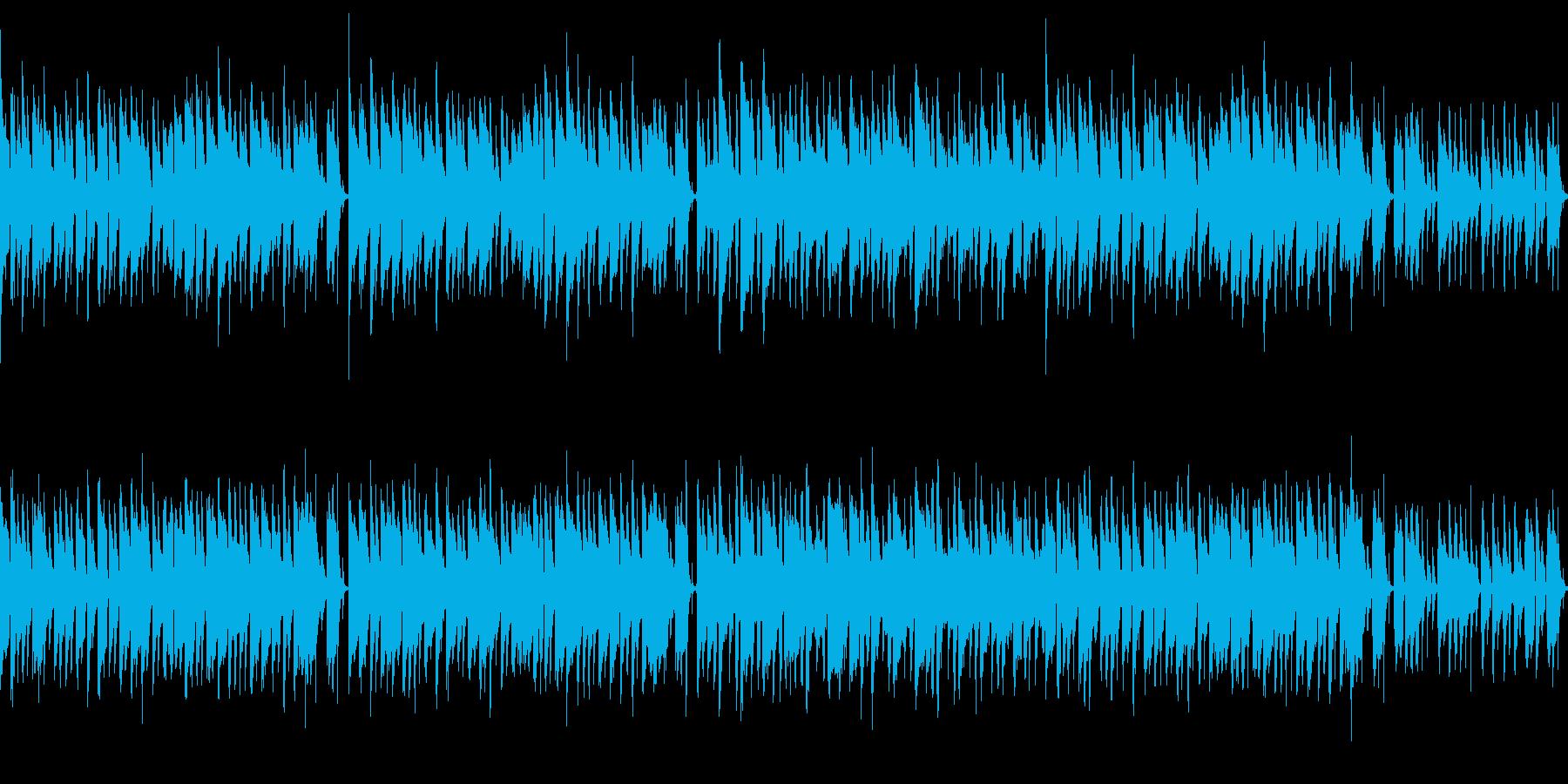 ほのぼのとしたセミナー向け音楽の再生済みの波形