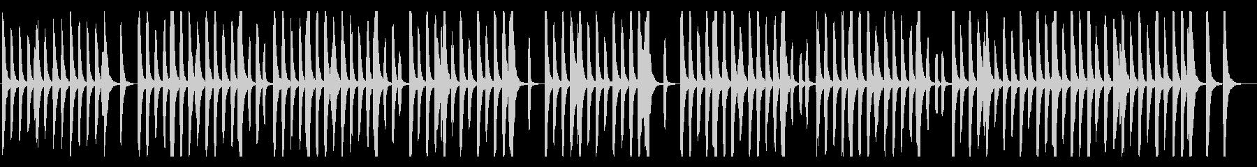 リコーダーとピアノのほのぼの系、子供bの未再生の波形