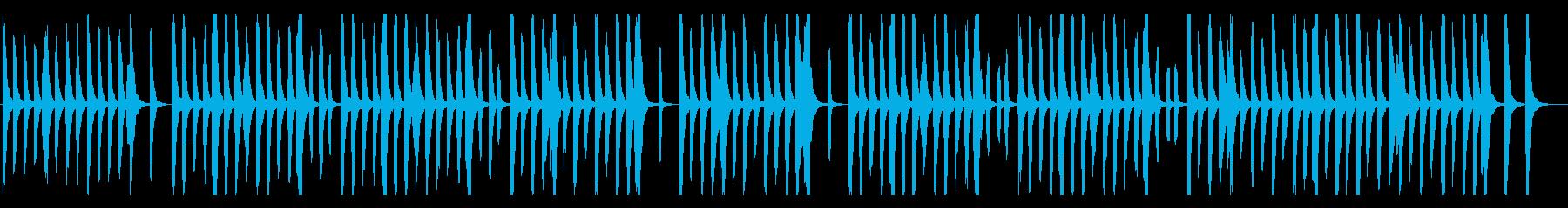 リコーダーとピアノのほのぼの系、子供bの再生済みの波形