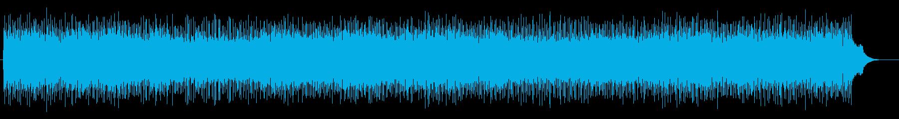宇宙感や近未来のシンセサイザーサウンドの再生済みの波形