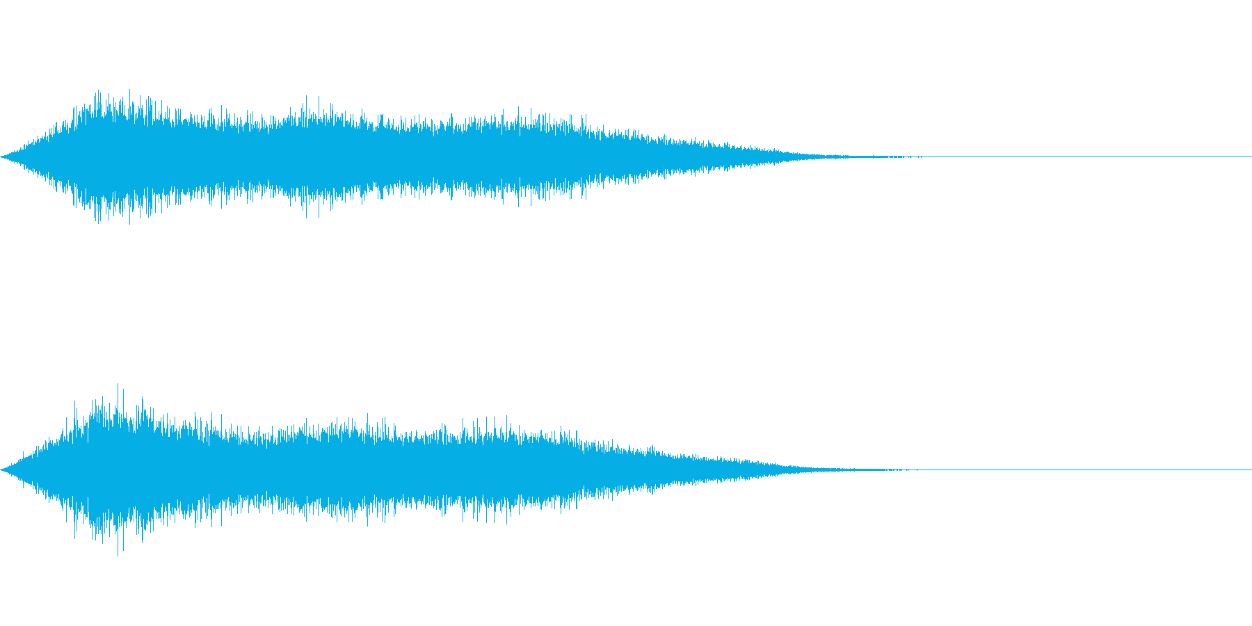ワァーキャー!コンサートやライブの歓声1の再生済みの波形