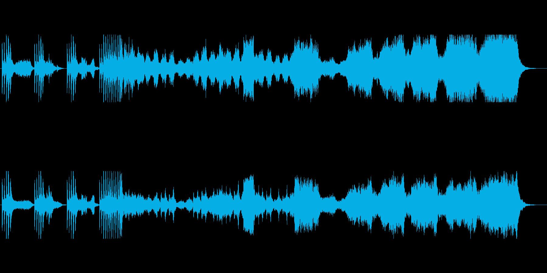 ダーク・ファンタジーのオーケストラ曲の再生済みの波形