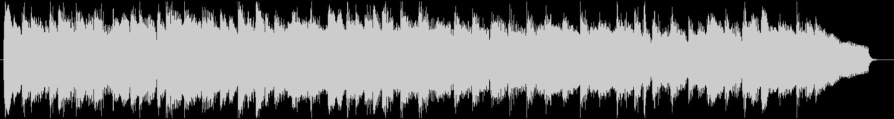 コミカルなパーカッション主体のBGMの未再生の波形