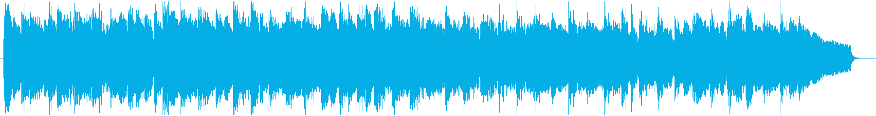 コミカルなパーカッション主体のBGMの再生済みの波形