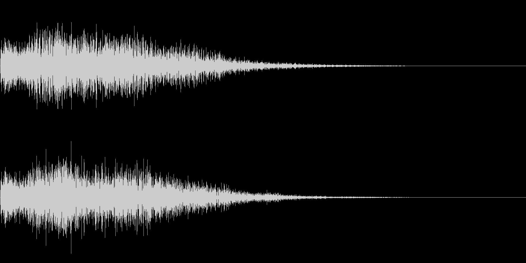 セレクト 選択 決定 ボタン押下音の未再生の波形
