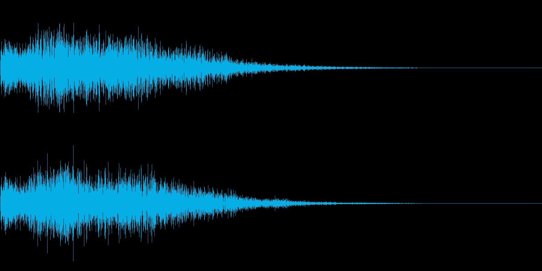 セレクト 選択 決定 ボタン押下音の再生済みの波形