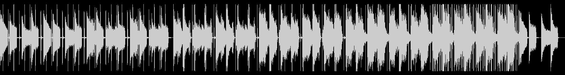 ピアノとベルの落ち着いたヒップホップの未再生の波形