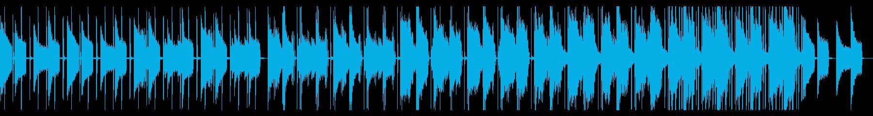 ピアノとベルの落ち着いたヒップホップの再生済みの波形