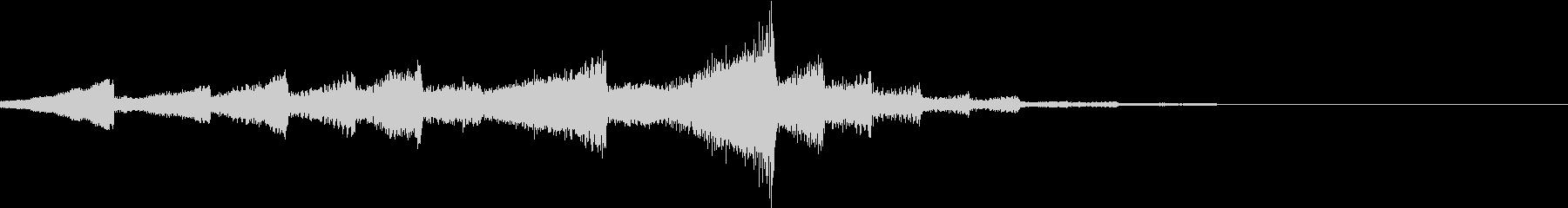 神秘的なサウンドロゴの未再生の波形