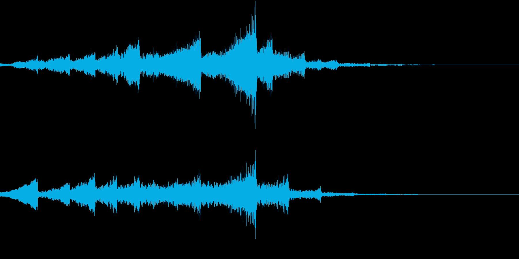 神秘的なサウンドロゴの再生済みの波形