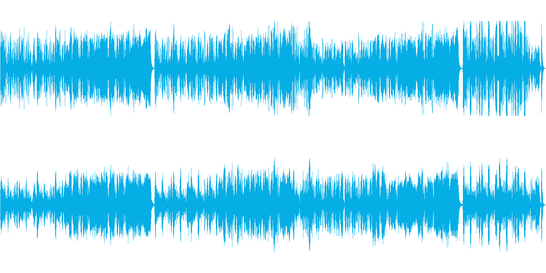 じゃれる猫の様子を、ストリングスで表現の再生済みの波形
