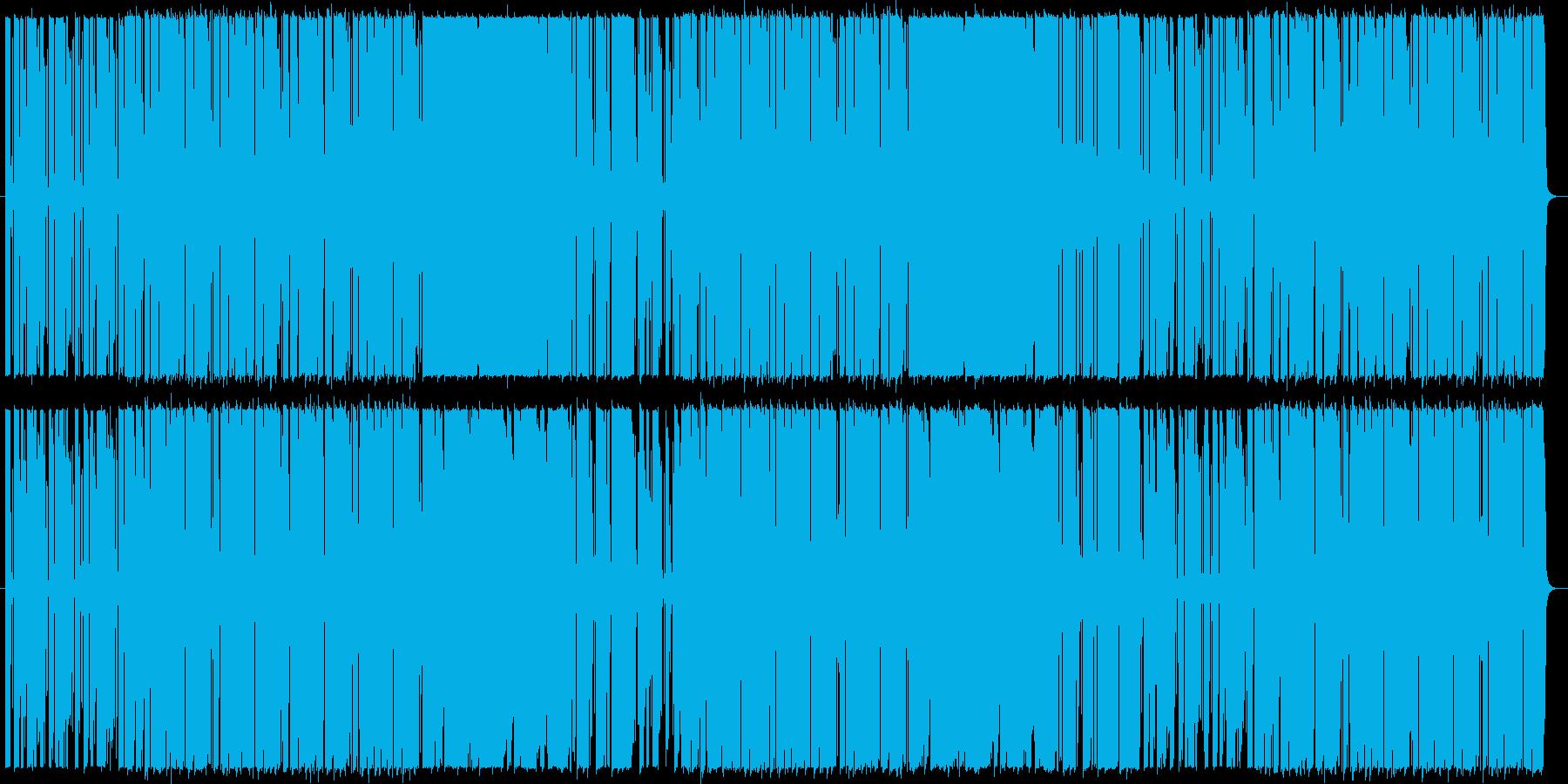 爽やかギターカッティングのポップロックの再生済みの波形