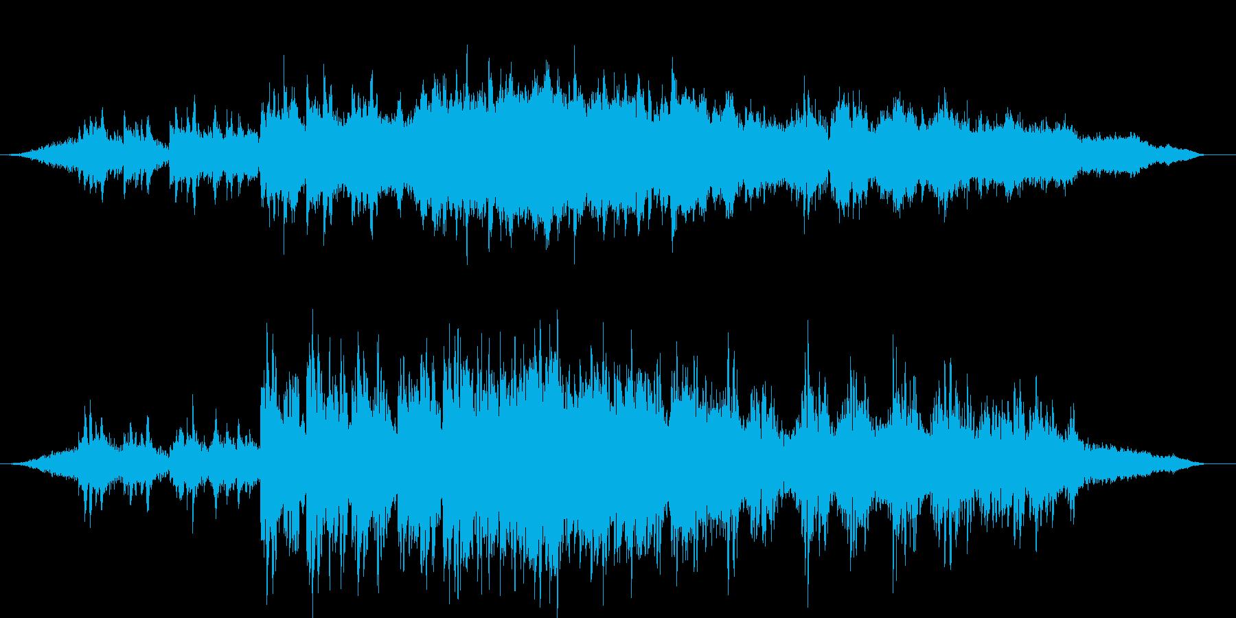 アイルランド風の物悲しいBGMの再生済みの波形