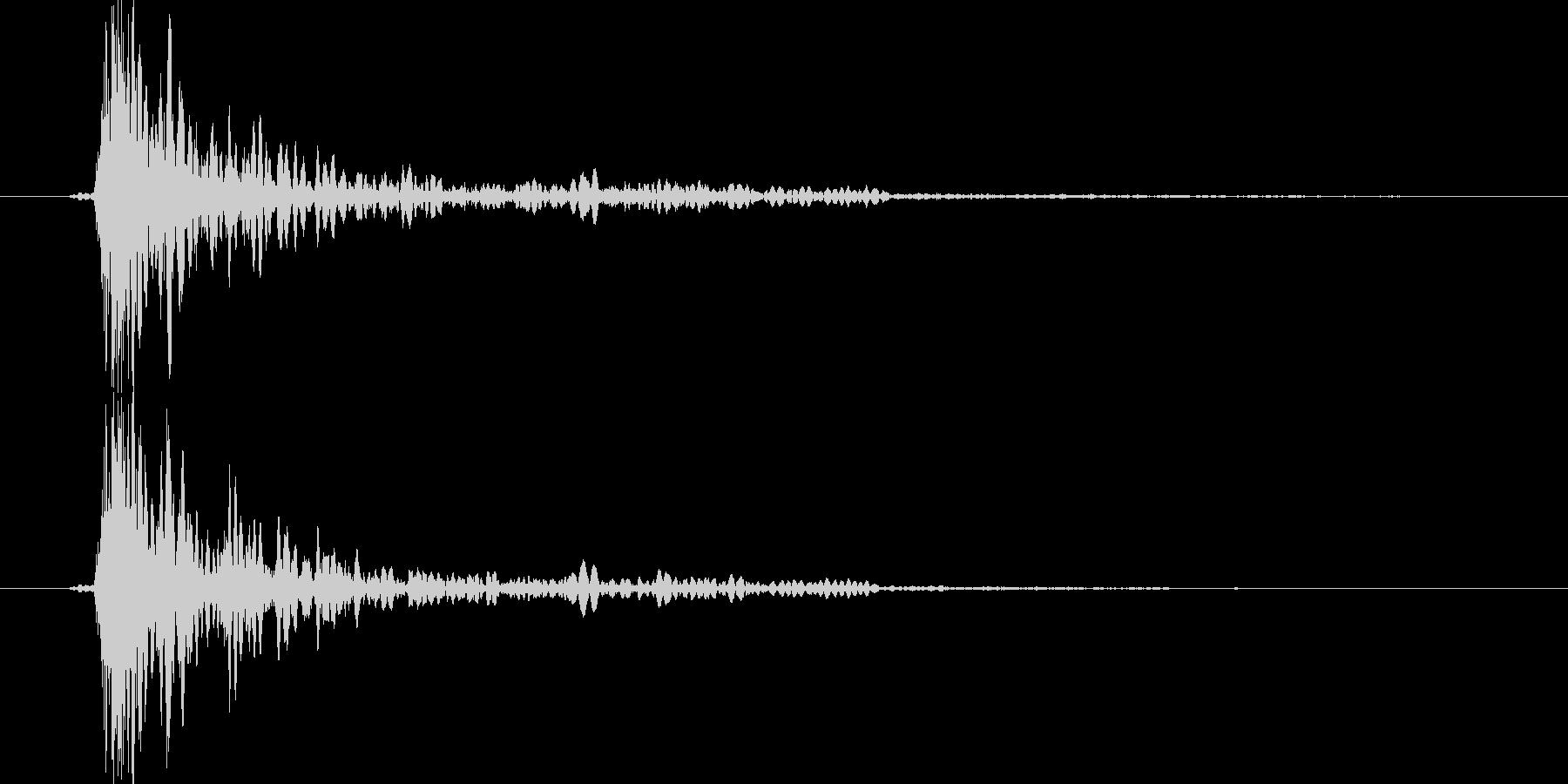 大砲音のCDレベル版の未再生の波形