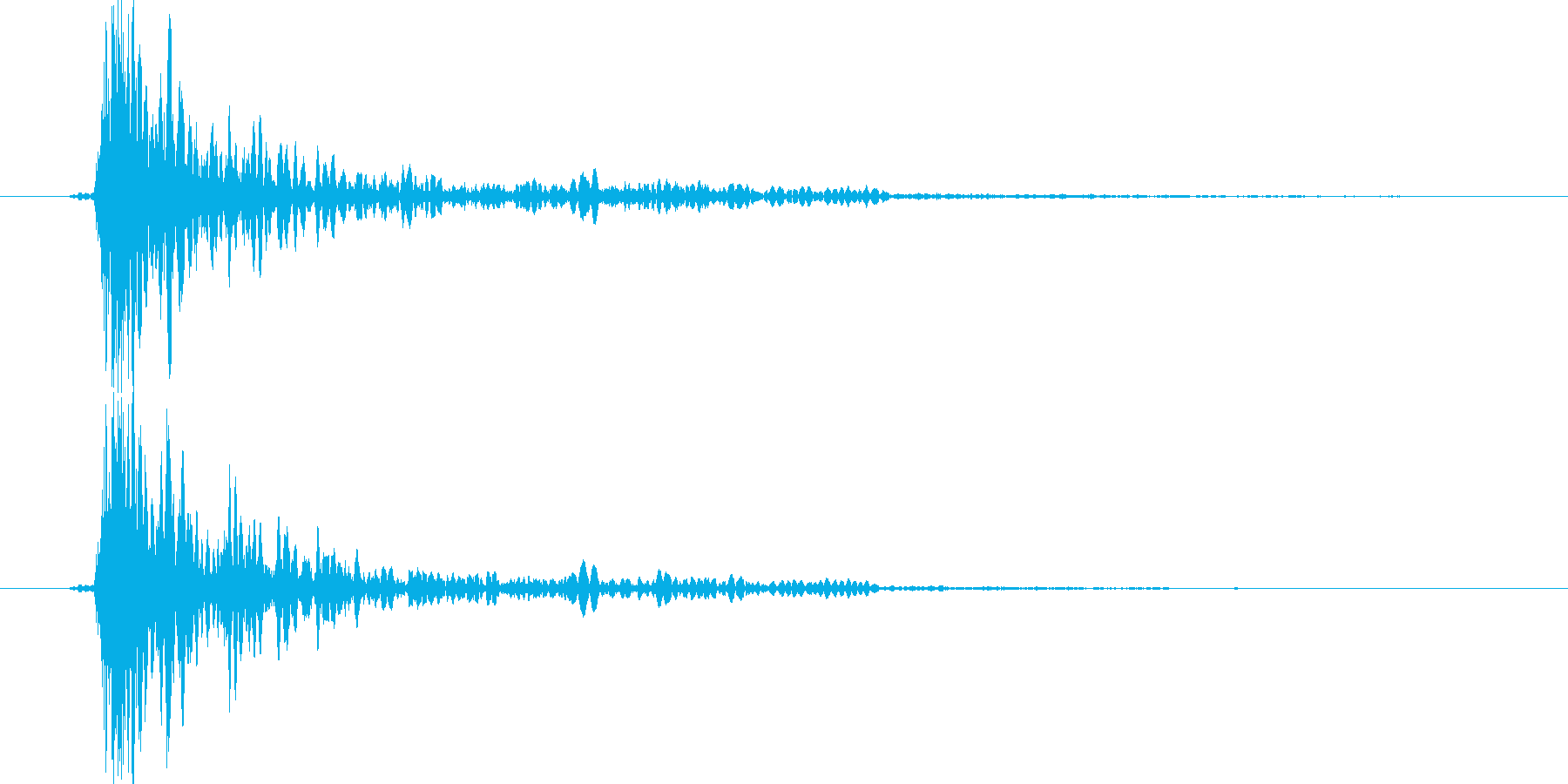 大砲音のCDレベル版の再生済みの波形