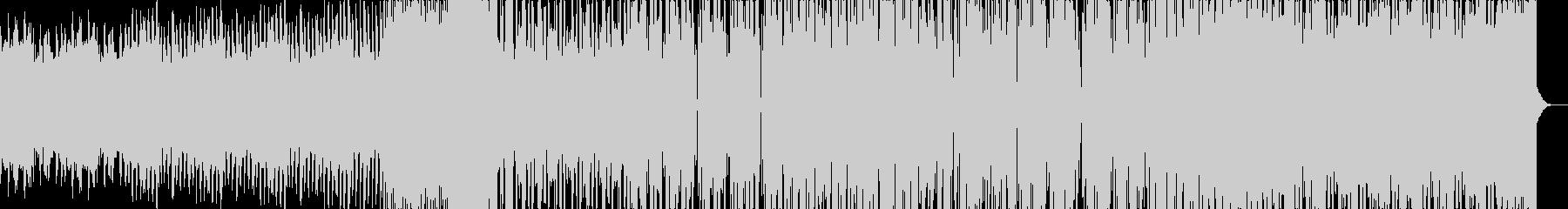 ダークで、疾走感のあるバトルシーンの未再生の波形