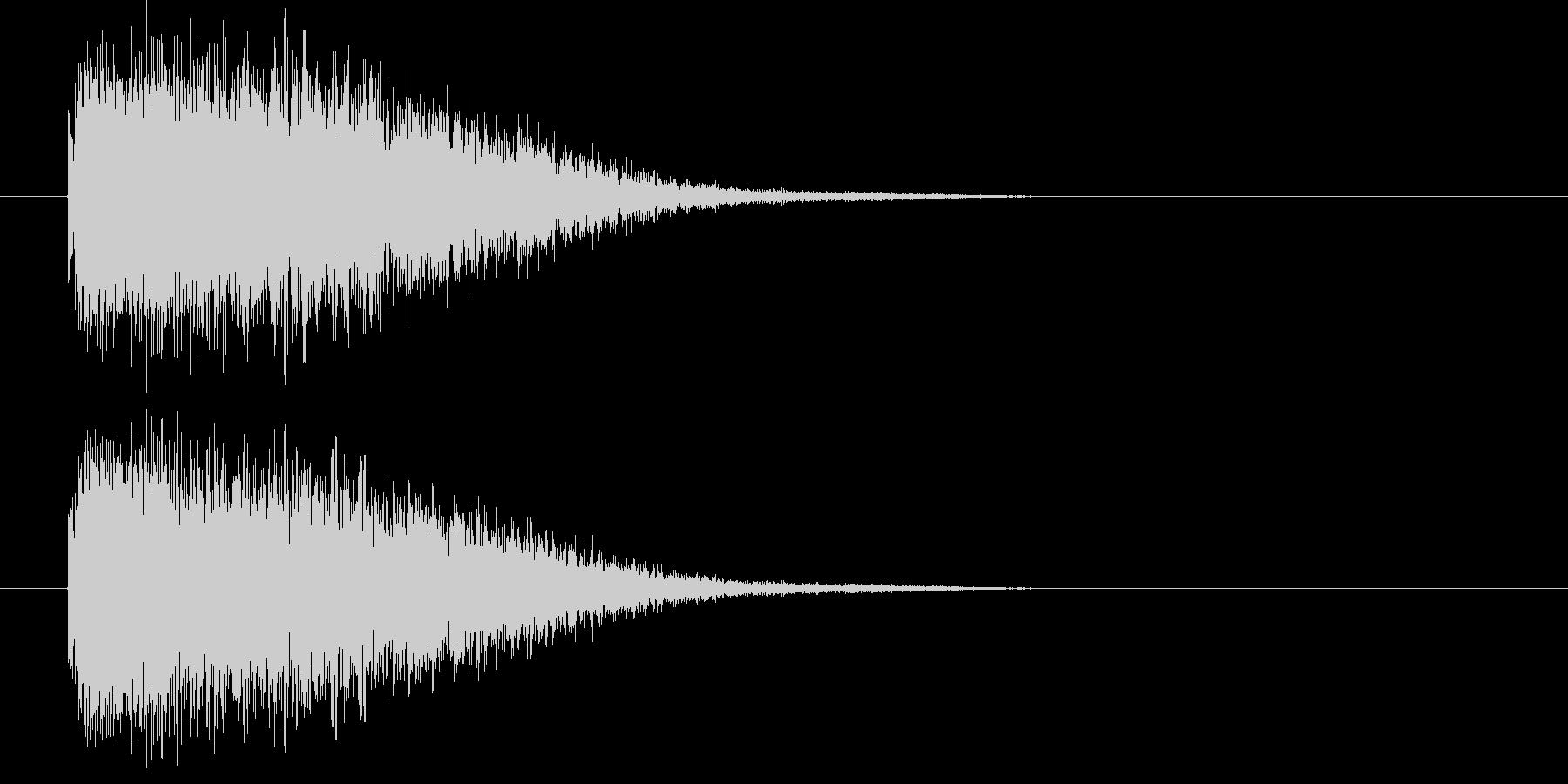 ビーム系攻撃音の未再生の波形