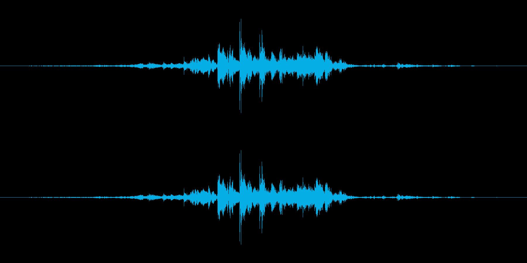 【生音】小銭を取り出す音の再生済みの波形