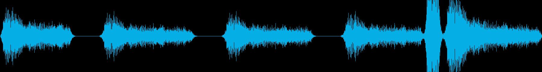 いびきの再生済みの波形