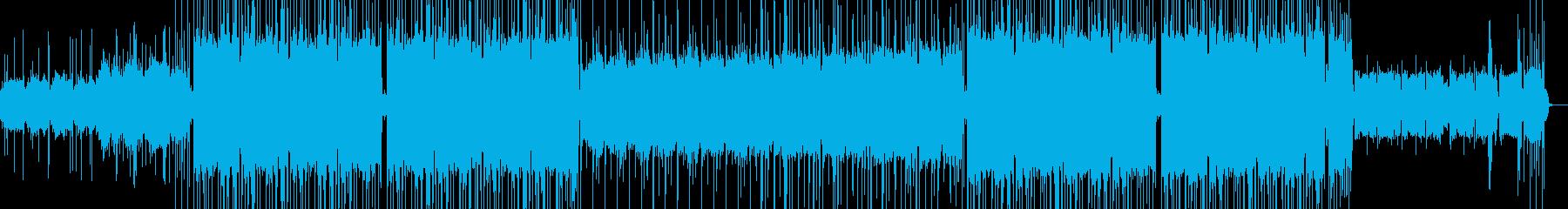 フィルターがかったLoFiヒップホップの再生済みの波形