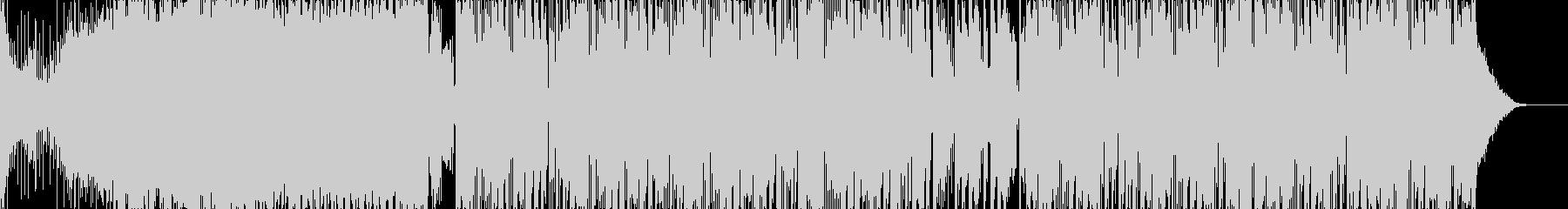 ガッツリ煽り感のあるEDMの未再生の波形