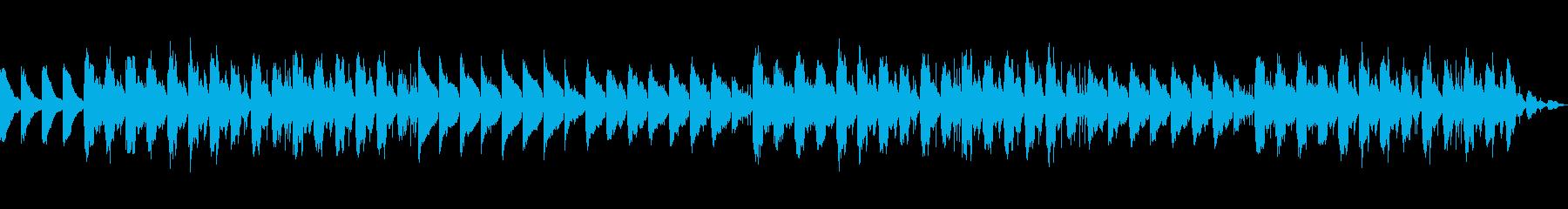 ピアノを使った神秘的な朝のLo-Fiの再生済みの波形