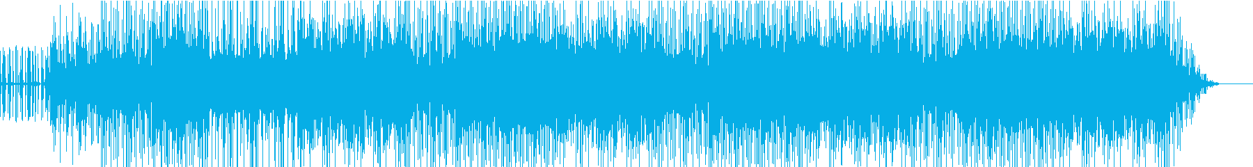 ハイテンポのかっこいい楽曲の再生済みの波形