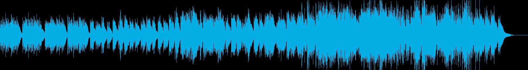 エコーの効いた前向きなピアノソロの再生済みの波形