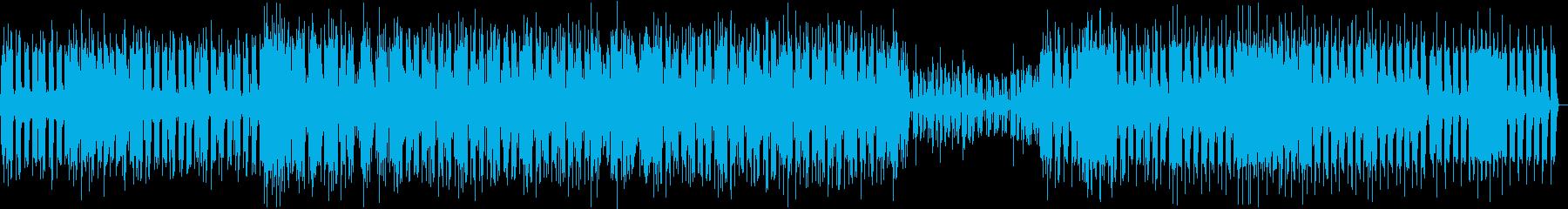 シンプルなミニマルテクノの再生済みの波形
