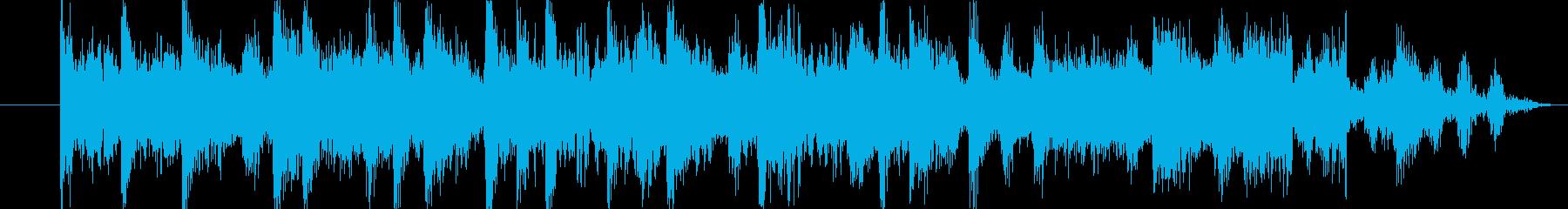 ジングル用BGM(危機&脱出!)の再生済みの波形