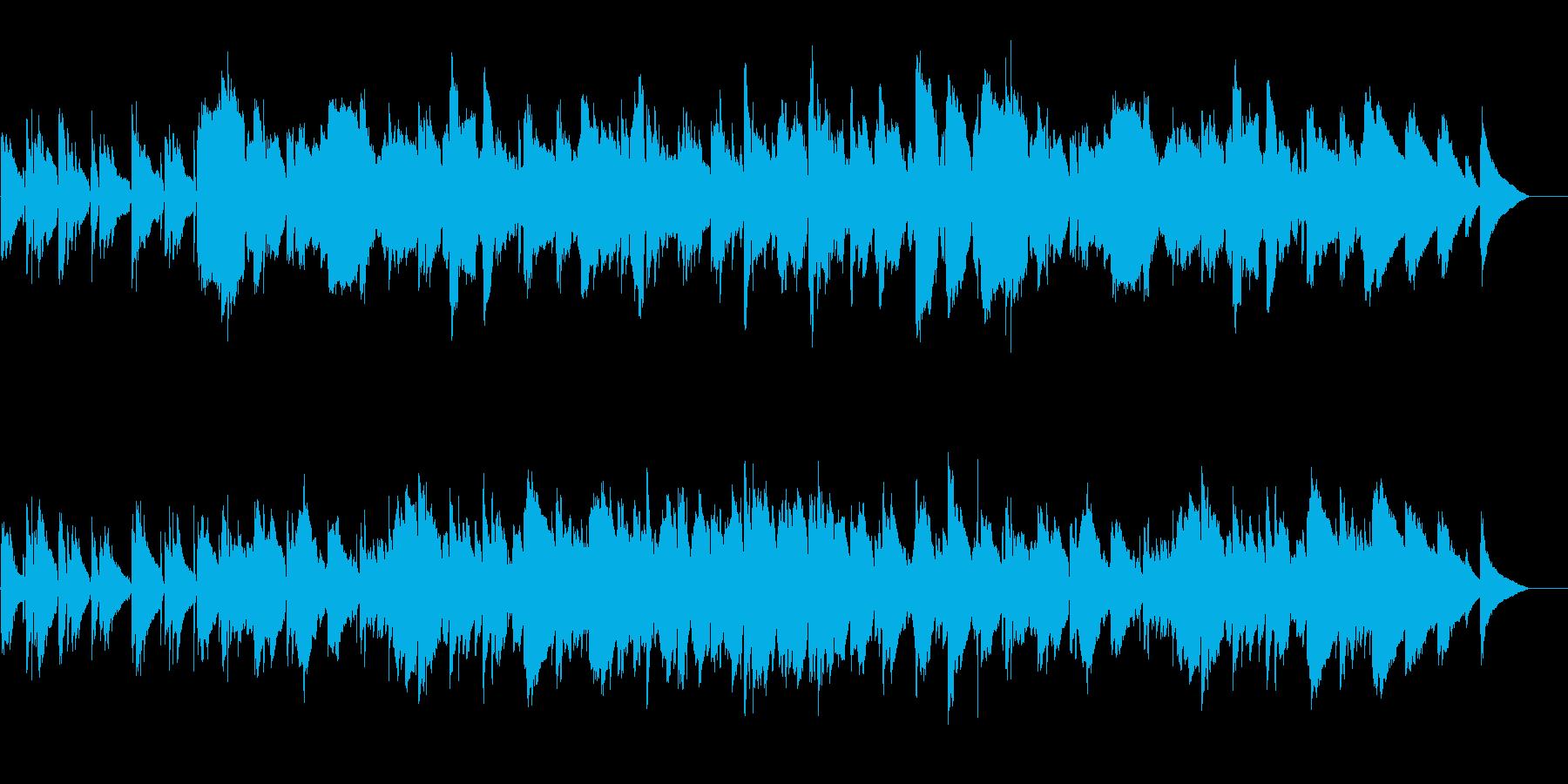 ゆったり静かな森の中をイメージした音楽の再生済みの波形