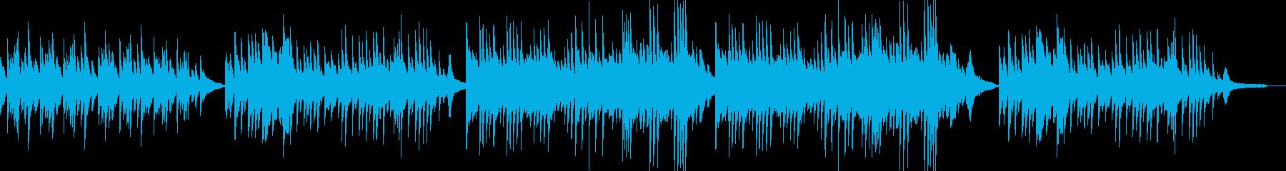 マイナー調のピアノバラードの再生済みの波形