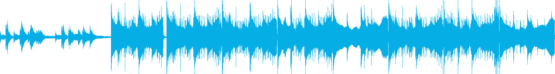 カフェ・日常・不穏なピアノ ループ可Sの再生済みの波形